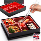 Bento Box Japanese Lunch Box Reusable Chopsticks Rice Sushi Catering Uk