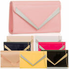 Patent Leather Envelope Bar Women Clutch Party Handbag Bridal Evening Prom Bags
