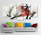 Framed Wall Canvas Art - Abstract Watercolor Deadpool Merc With A Mouth