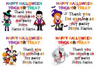 Personalised Halloween stickers For Sweet Cones/Party Bags etc 3 Sizes - J1 - 01