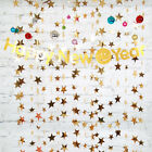Glitter Star Paper Banner Garland 13Ft Hanging Backdrop Wedding Party Home Decor
