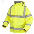Trespass Beckett Mens Waterproof Hi Vis Yellow Work Jacket Reflective