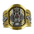 Scottish Rite 33 Degree Masonic 18K Pld Gold Ring Knights Templar by UNIQABLE