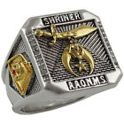 Masonic Shriner Scottish Rite 32 Degree Ring 18K Gold Plated Templar by UNIQABLE
