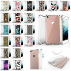 "For Apple iPhone 8 (4.7"") Durable Slim Fitted Clear TPU Case - Unique Designs"