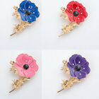 Enamel Poppy Brooches Pins Flowers Badge Brooch Jewelry For Soldier Remembrance
