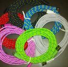 3M/10FT Braided Nylon Micro USB Charger Fast Charging Long Cable Cord for Phone