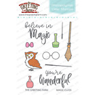 MAGIC CLASS Stamps/Dies Set-The Greeting Farm-Stamping Craft-Wizard/Broom/Wand