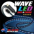 LED Wave Light Data Sync Charger Charging Cable Cord for iPhone 5 5S 6 6+ iPad 4