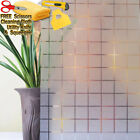 GRID Frosted Glass Film Static Cling Office Bedroom Bathroom Home Window Tint