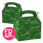 Army Green Camouflage Fun Party Boxes Food Loot Lunch Gift Childrens Kids