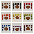 80 Quality Cube Square Czech Wooden Beads in a Variety of Colours size 6x6mm