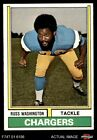 1974 Topps #416 Russ Washington Chargers EX/MT $0.99 USD