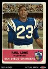 1962 Fleer #80 Paul Lowe Chargers GOOD $8.25 USD