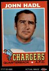 1971 Topps #255 John Hadl Chargers VG/EX $1.9 USD