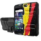 [Cricket Only] For Alcatel Idol 5 Defender Combat Case [Holster/KickStand]  - G