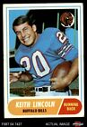 1968 Topps #19 Keith Lincoln Bills VG $1.2 USD on eBay