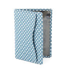 LEATHER OYSTER CARD HOLDER WITH POLKA DOT PATTERN
