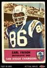 1962 Fleer #87 Earl Faison Chargers GOOD $8.25 USD