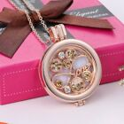 Women Jewelry Aromatherapy the Diffuser Locket Pendant Necklace Openable NG