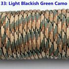 25-100FT 550 Paracord Parachute Cord Lanyard Mil Spec Type III 7 Strand Core C04