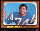 1966 Topps #128 Ron Mix Chargers EX $8.5 USD