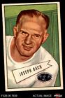 1952 Bowman Large #53 Joseph Back -  Steelers FAIR