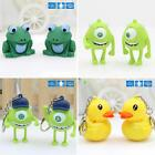 Cartoon Animal LED Light Up Keychain Key Ring with Sound Handbag Flowery