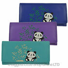 NEW Ladies Large Tri Fold LEATHER PURSE WALLET by Mala; Chi Chi Collection Panda