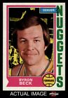 1974 Topps #264 Byron Beck Nuggets EX/MT
