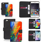 pu leather wallet case for huawei & other mobiles delighted motif