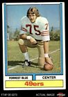 1974 Topps Parker Brothers #124 Forrest Blue ONE PB 49ers VG/EX