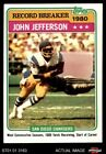 1981 Topps #332 John Jefferson - Record Breaker Chargers NM/MT $2.3 USD