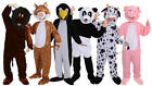 Deluxe Mini Mascot Animal Costumes Jungle Zoo Farmland Unisex Fancy Dress Outfit