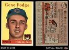 1958 Topps #449 Gene Fodge Cubs VG EX