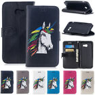 Patterned Horse Leather Flip Wallet Case Cover For Samsung Galaxy A3 A5 (2017)