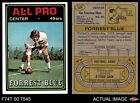 1974 Topps #124 Forrest Blue - All-Pro AP 49ers EX/MT