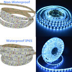 300LEDs 5050 Ice Blue Light LED Flexible Strip DC12V White PCB Board Light Blue