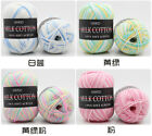 Knitting Crochet Milk Soft Baby Cotton Wool Yarn soft, warm, tiny colorful