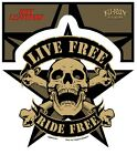 Live Free Ride Free skull sticker decal MC Rockabilly,Old School,Motorcycles