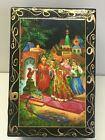 NEW Russian Hand Made Lacquer Jewelry Box With Hand Painting Added Made In Russi