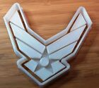 U.S. Military Air Force Logo 2 Piece Cookie Cutter - Choice of Sizes