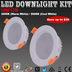 10W 13W LED Downlight Kit Dimmable 70/90mm Cutout Ceiling Lights Warm/Cool White