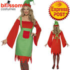 CA477 Ladies Cute Elf Santa Helper Christmas Xmas Fancy Dress Up Costume Outfit