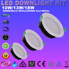 LED Downlight Kits Dimmable 10W 13W 18W Down lights 70mm 90mm 120mm Cut Recessed