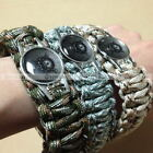 Skull Paracord Survival Tactical Bracelet EDC Outdoor Survival Rope Buckle