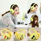 Woman Girls Thick Plush Face Lovely Expression Warm Earmuffs Winter Ear Cover