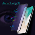 Anti Blue-Ray 3D Full Cover Curved Tempered Glass Screen Protector For iphone X