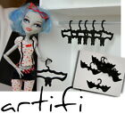 Clothes hanger BAT - set of 7 pcs - 1:6 Dollhouse mini HANGERS for monster hig