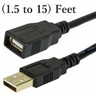 2.0 USB Type A Male/Female Extension Cable for Computer Printer Scanner PC Cord